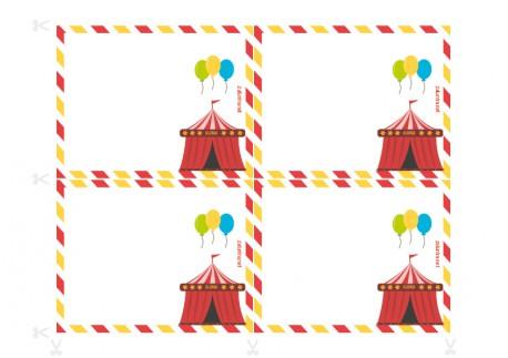 Einladungen für Geburtstagsfeiern zum Ausdrucken - Ermittlung im Zirkus