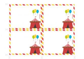 Invitations pour anniversaire à imprimer - Enquête policière au cirque