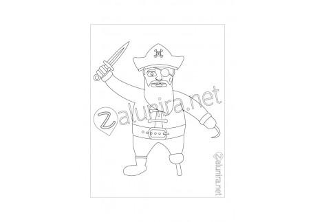 Disegni da stampare e colorare - Il consiglio dei pirati