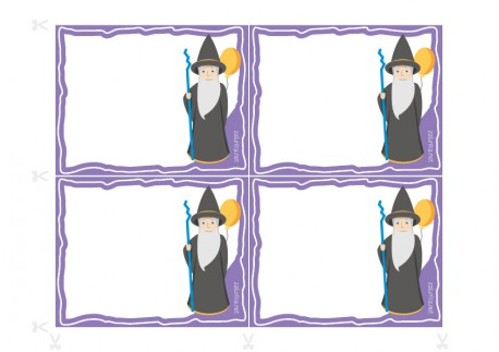 Inviti per il compleanno da stampare - Il mago Lineo